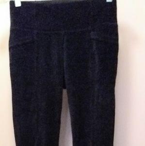 Like New Sz M Athleta velour leggings w pockets